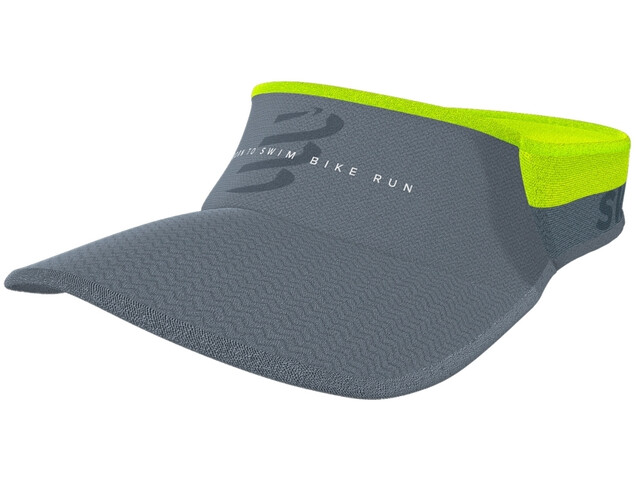 Compressport Spiderweb Ultralight Visière Born To SwimBikeRun 2020, grey
